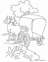 Cart Coloring Pages Bullock Road Horse Trip Standing Sketch Printable Grease Carriage Lightning Drawing Easy Roads Sheets Days Bestcoloringpages Buggy sketch template