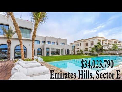 million dubai luxury mansion emirates hills sector  villa mega mansion youtube