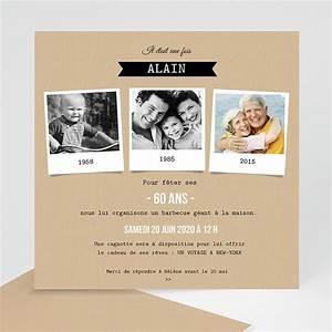 Faire Part Anniversaire 60 Ans : invitation anniversaire adulte 60 diapo ~ Edinachiropracticcenter.com Idées de Décoration