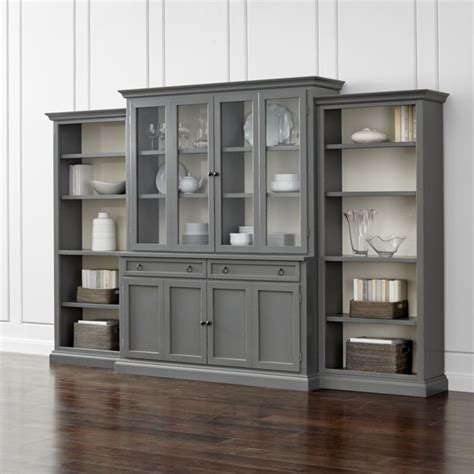 sideboard cabinet high gloss fronts cupboard storage display cameo 4 grey glass door wall unit with open