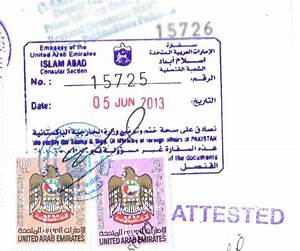 Procedure attestation from uae embassy in for Document attestation from uae embassy in pakistan
