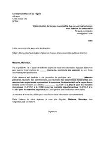 modele de lettre de demande d intégration après détachement model 195 169 lettre autorisation absence 195 169 cole