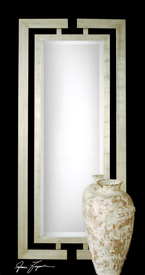 Uttermost Mirrors by Uttermost Jamal 34 X 76 Silver Wall Mirror Ut14097b