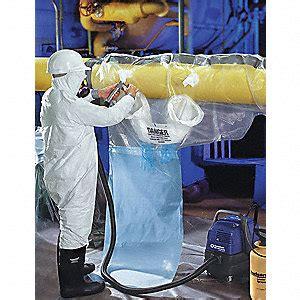 grainger approved  mil asbestos glovebag fits pipe size