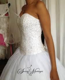 robe de marier pas cher robe de mariee princesse bustier en perles transparente robe blanche de mariage robe de mariee