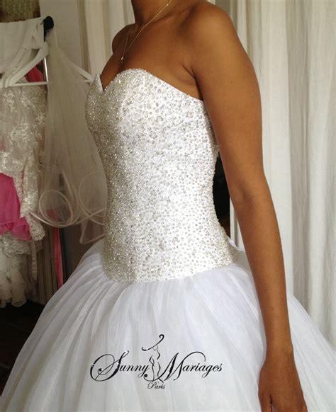 robe de mariée bustier strass robe de mariee princesse bustier en perles transparente