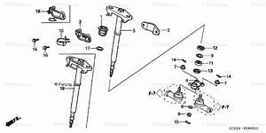 Honda Atv 2004 Oem Parts Diagram For Steering Shaft