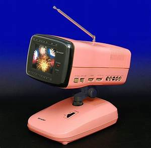 Collections Often Overlap  This Pink Tv From Sharp  1986