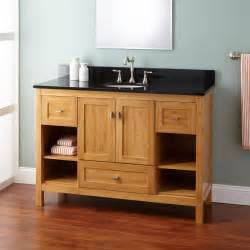 48 quot narrow depth alcott bamboo vanity for undermount sink