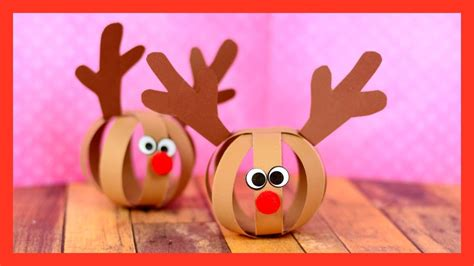 paper ball reindeer craft fun christmas craft  kids