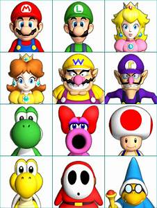 Wii Mario Party 9 Character Portraits The Spriters