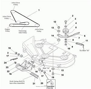 Simplicity 44 Inch Mower Deck Belt Diagram