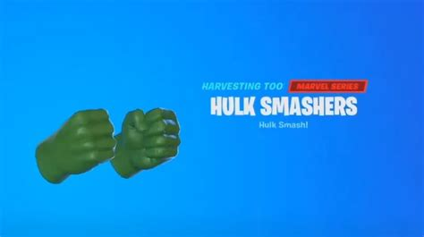 fortnite     hulk smashers pickaxe vg