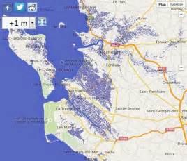 la mont 233 e des eaux pourrait submerger une partie du littoral fran 231 ais selon la nasa sud ouest fr