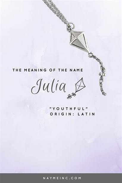 Julia Meaning Names Necklace Meanings Rare Morgan