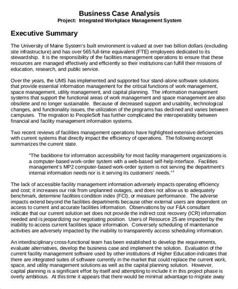 executive summary example apa format