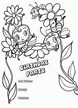 Pages Birthday Happy Coloring Printable Card Party Invitation Sheets Bees Cards Carte Colouring Coloriage Print Bestcoloringpagesforkids Boy Imprimer Cake Popular sketch template