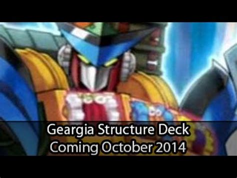 geargia rage yugioh structure deck coming october 2014