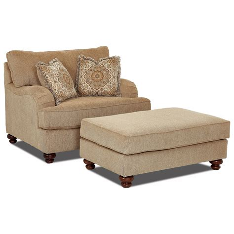 chair and ottoman sets klaussner declan oversized chair and ottoman set royal