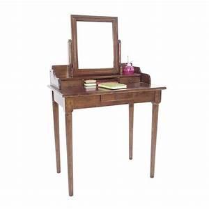 Coiffeuse avec miroir en bois personnalisable princesse