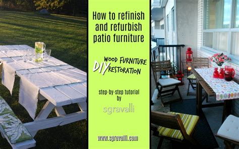 how to refinish and refurbish patio furniture diy wood