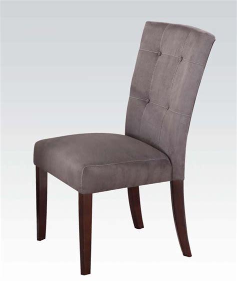 gray microfiber side chair baldwin by acme ac16836 set of 2