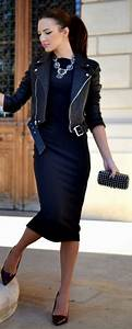 Nettoyer Une Veste En Cuir : comment porter une veste en cuir noir femme v tements l gants modernes ~ Carolinahurricanesstore.com Idées de Décoration