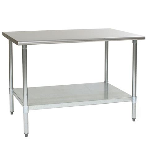 30 x 48 stainless steel table eagle group t3048b 30 quot x 48 quot stainless steel work table