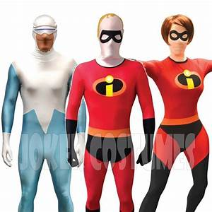 The Incredibles Morphsuit Fancy Dress Costume Mr & Mrs ...
