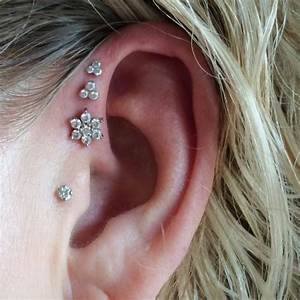 Triple Ear Lobe Piercing: Pain, Aftercare, Jewelry, Price ...