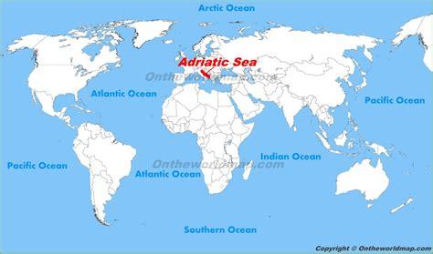 Adriatic Sea location on the World Map