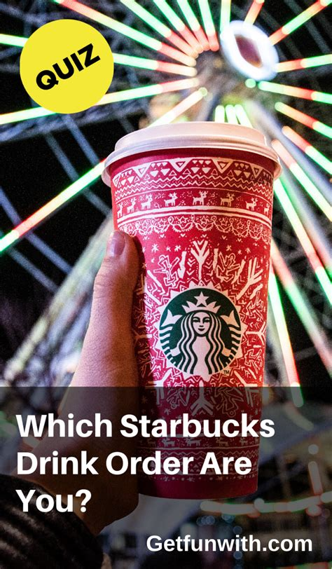 The ultimate collection created for starbucks fans, by starbucks fans! If you were a Starbucks drink order, which one would you be? Something straight off of the menu ...