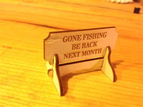 fishing    month miniature desktop sign