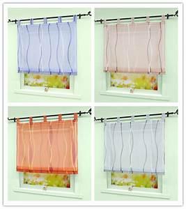 Gardine Kinderzimmer Transparent : raffrollo mit schlaufen k che raffgardinen gardinen wohnzimmer fenstergardine b ebay ~ Watch28wear.com Haus und Dekorationen