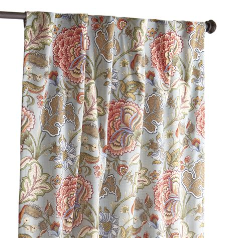 pier one curtains panels floral curtain blue meadow pier 1 imports