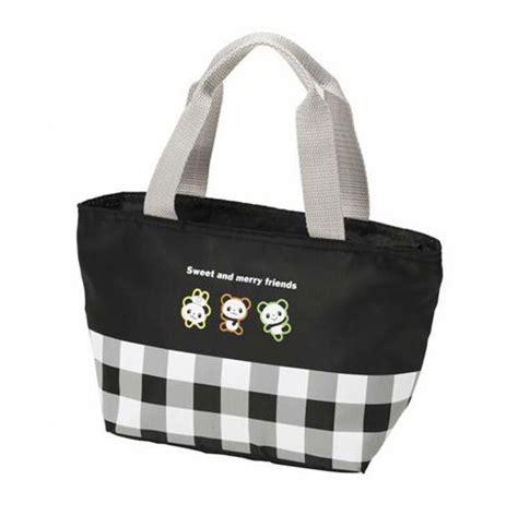 sac repas bureau sac déjeuner isotherme à carreaux avec des pandas sacs