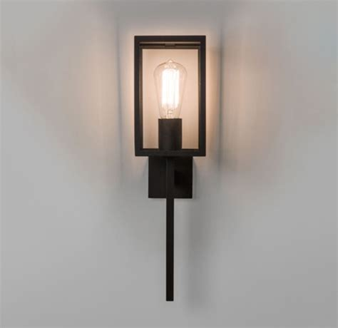 astro coach 130 ip44 outdoor wall light black 7563