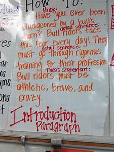 Introduction Paragraph Anchor Chart Informational
