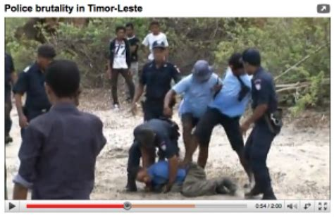 Timor Police Brutality Video Ground Report