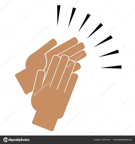Zum Klappen by Handen Klappen Op Een Witte Achtergrond Stockvector
