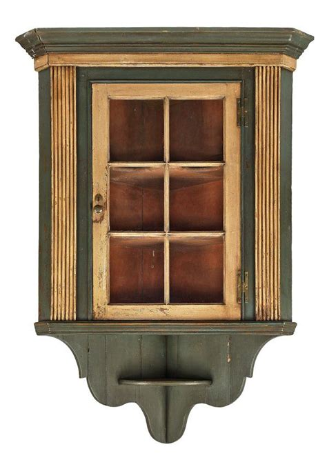 Hanging Wall Cupboards by Pennsylvania Painted Pine Hanging Corner Cupboard On In
