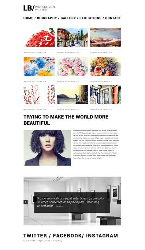 artist website templates artist portfolio responsive website template 49560