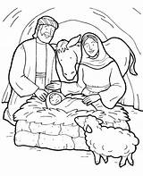 Jesus Coloring Birth Pages Story Bible Christmas Born Colouring Manger Printable Drawing Sheet Christian Nativity Joseph Mary Tocolor Template Preschool sketch template