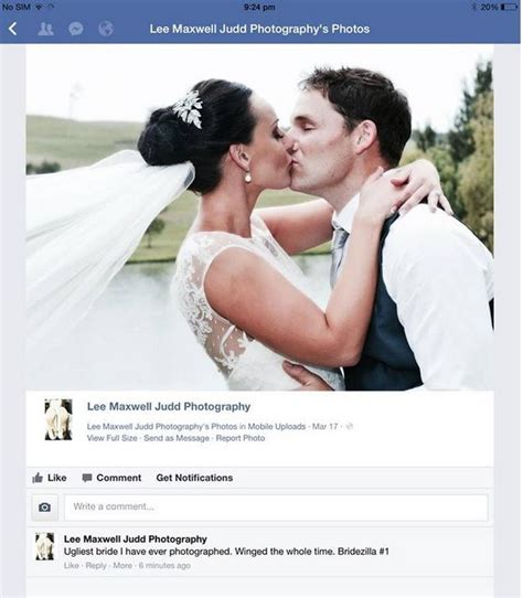 Wedding Photographer Meme - un photographe traite de quot mari 233 e moche quot sa cliente