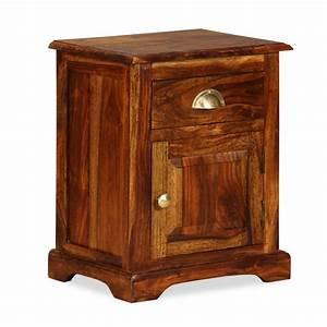 Chevet Bois Massif : acheter vidaxl table de chevet bois de sheesham massif 40 ~ Teatrodelosmanantiales.com Idées de Décoration