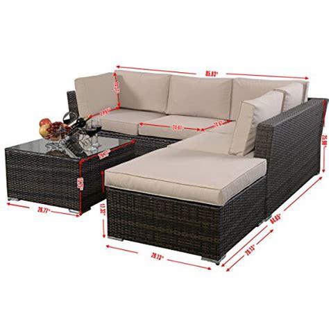 giantex 4pc patio sectional furniture pe wicker rattan