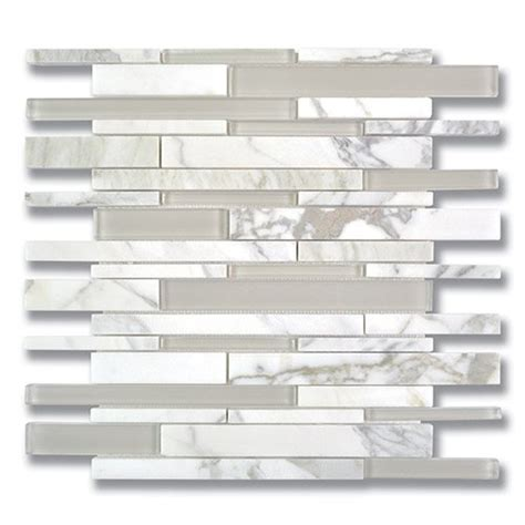 Akdo Glass Tile Parchment by Fusion Stagger Calacatta H Akdo