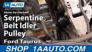 How To Replace Idler Pulley 00-07 Ford Taurus