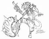 Overwatch Junkrat Fan Drawing Hand Deviantart Ozzie Drawings Games sketch template