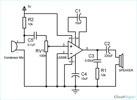 Audio Amplifier Circuit Diagram Electronic